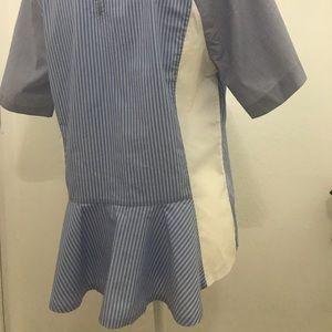 Armani exchange XL blue stripe top